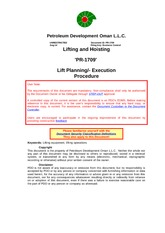 PR-1709 - Lifting and Hoisting Procedure Lift Planning Execution