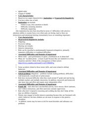 HDFS 4950 ADHD Notes