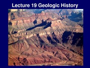 Lecture 19 - Geologic Time