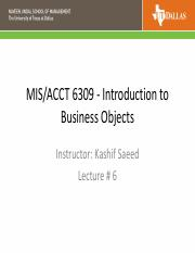 6309 - Lecture 6