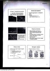 Environments - Slope Processes Lecture Notes