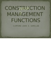 chapter 3 - CONSTRUCTION  MANAGEMENT  FUNCTIONS
