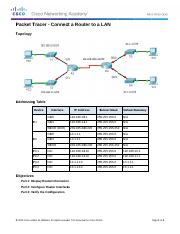 6.4.3.3 Packet Tracer - Connect a Router to a LAN_Instructions