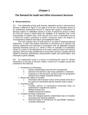 Auditing and Assurance Services Chapter 1 Solution