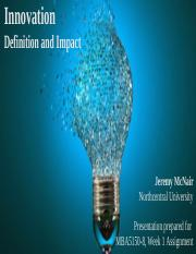McNairJMBA5150-8-1. Innovation _ Definition and Impact