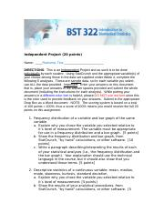BST 322 Independent Project