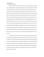 reflection paper-a small place