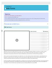 Lesson 6 : Web Forms -uCertify.pdf