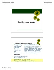 The Mortgage Market Lecture