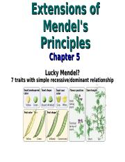 6 Extensions of Mendel's Principles.ppt