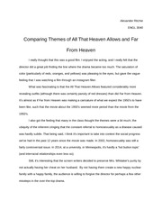 Film Analysis Essay, Comparing Themes of All That Heaven Allows and Far From Heaven