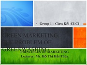 Green Marketing - Group 1