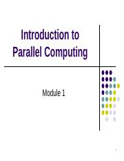 Mod-1_Parallel_Introduction