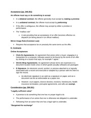 Contractual Capacity and Legality Notes