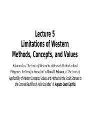 Lecture 5 Limitations of Western Methods, Concepts, and Values.pptx