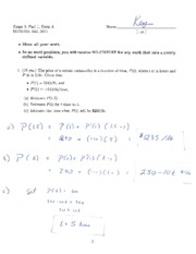 Exam 3 Day 1 Form A Solution