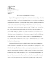 high school transition paper