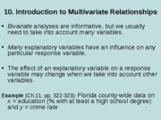 10. Introduction to multivariate relationships