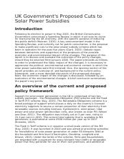 UK Government's Proposed Cuts to Solar Power Subsidies.docx