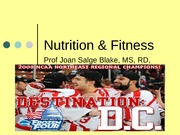 HS201 - (13) Nutrition and Exercise