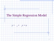 ch02The Simple Regression Model
