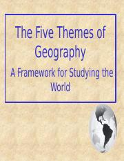 3 - Five Themes of Geography.pptx