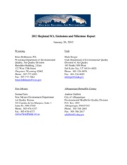2013 Milestone Report Draft for Public Comment