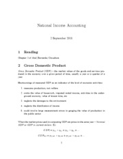 1. national income accounting