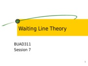Session 7 Waiting Line Theory