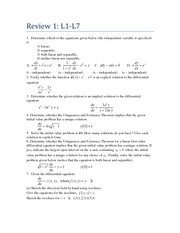 Differential Equations Exam Review (2 of 6)