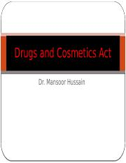 drugs and cosmetics act 1940 27.10.2017.pptx