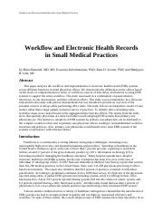 workflow small health care provider