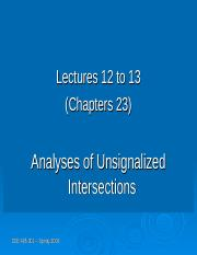 Lecture12 and 13 - Analysis Unsignalized Intersection.ppt