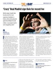 1869  'Crazy' Real Madrid sign Bale for record fee