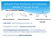 Lecture 13 Notes, Solvent-Free Synthesis of a Chalcone