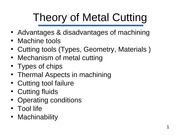 L6 (Metal Cutting)