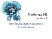 345 Chap 3, 4 Tolerance and Neurophysiology