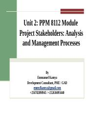 Unit 2 PPM 8112 Project Stakeholder Management & POTA.pptx