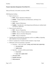 Facilities Final Study Guide