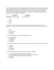 Genetics Final Summer 2008 pg 4