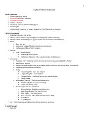 English III Midterm print friendly Study Guide