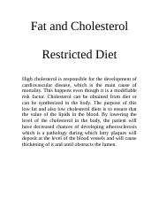 Fat and Cholesterol for clinicals .docx