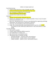 ENGE 1114 Study Guide Test 1
