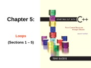 Chapter 05 Section 1 to 5