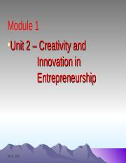 English Unit 2 Creativity and Innovation in Entrepreneurship.ppt
