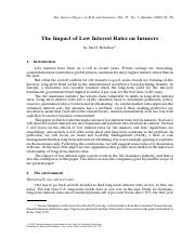 Effect of Low Rates on Insurers.pdf
