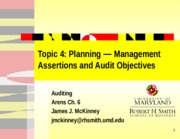 Slides Audit Topic 04 - X7K_Planning - Assertions and Obj