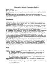 preparation outline for informative speech
