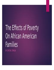 The Effects of Poverty On African American Families