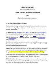 chapter 13 and 14 human growth.docx
